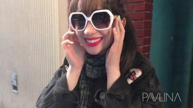Pavlina in NYC with Perverse Sunglasses!