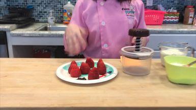 Hannah's Strawberry Santas