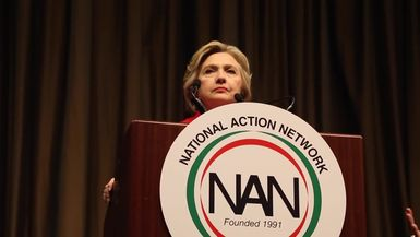 NATIONAL ACTION NETWORK, HILLARY CLINTON, BENJAMIN CRUMP interview W  PAVLINA NYC