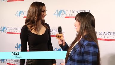 DAYA interview with PAVLINA talks her new song HIDE AWAY T. J. Martell Foundation Family Day NY